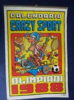 """M#0H32 CALENDARIO CRAZY SPORT OLIMPIADI 1988 JACOVITTI Suppl.al N. 8 """"2001 Reporter"""" - Formato Grande : 1981-90"""