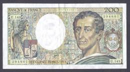 200 FRANCS MONTESQUIEU 1992  U.143 TTB+ - 200 F 1981-1994 ''Montesquieu''