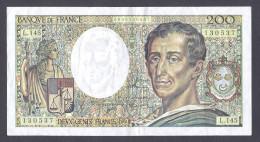 200 FRANCS MONTESQUIEU 1992  L.145 TTB+ - 200 F 1981-1994 ''Montesquieu''