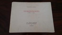 Livre Ancien De 1948 - TEMOIGNAGES - 36 Dessins à La Plume - Violette Lecoq Résistance Camp De Concentration Ravensbrück - Guerre 1939-45
