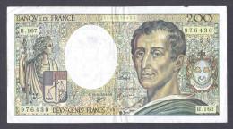 200 FRANCS MONTESQUIEU 1994 R.167 TTB+ - 200 F 1981-1994 ''Montesquieu''