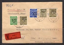 Wertbrief Sowjetishe Zone 3.10.1949! Götz Seite 410 (d97) - Sowjetische Zone (SBZ)