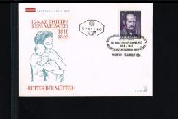 Health & Medicine - Medical Science - Ignaz Philipp Semmelweis - FDC Austria 1965 [FB084] - Medicina