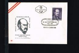 Health & Medicine - Medical Science - Ignaz Philipp Semmelweis - FDC Austria 1965 [FB085] - Medicina