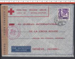 INDES NEERLANDAISES - 1941 - LETTRE DE BATAVIA CONTROLEE PAR LA CENSURE, VERS LA CROIX ROUGE INTERNATIONALE DE GENEVE - - Nederlands-Indië
