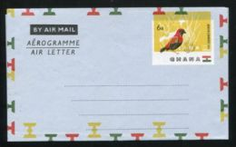 GHANA AIRLETTER MAJOR VARIETY BIRD 1961 - Gold Coast (...-1957)