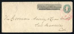 UNITED STATES WELLS FARGO EXPRESS STATIONERY 1885 STOCKTON CALIFORNIA - Postal History