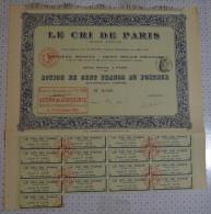 Le Cri De Paris - Industrie