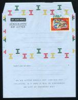 GHANA 1967 CHAMELEON REPTILE AIRLETTER PAPER VARIETY COLOUR SHIFT - Gold Coast (...-1957)