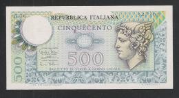 ITALIA - 1974 - BIGLIETTO DI STATO DA LIRE 500 TESTA DI MERCURIO - NON CIRCOLATO - IN OTTIME CONDIZIONI. - 500 Lire