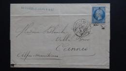 France - 1867 - Mi:29Aa On Folded Letter - Look Scan - 1863-1870 Napoléon III. Laure