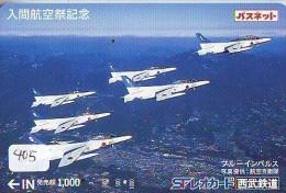TELECARTE JAPON * MILITAIRY AVION  (405) Flugzeuge * Airplane * Aeroplanos * PHONECARD JAPAN * - Flugzeuge