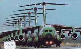 TELECARTE JAPON * MILITAIRY AVION  (410) Flugzeuge * Airplane * Aeroplanos * PHONECARD JAPAN * - Airplanes