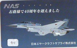 TELECARTE JAPON * MILITAIRY AVION  (411) Flugzeuge * Airplane * Aeroplanos * PHONECARD JAPAN * - Airplanes
