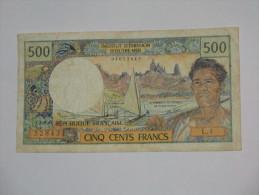 Recherché !!!!!  500 Francs  1977 PAPEETE - Institut D´émission D´Outre-mer **** EN ACHAT IMMEDIAT **** - Papeete (Polynésie Française 1914-1985)