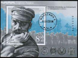 POLAND 2014 Polish Legions Jozef Pilsudski; Mini Sheet - Used Stamps