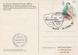 1982 GB Bath THEATRE ROYAL RESTORATION Event COVER Card Ballet Stamps - Teatro