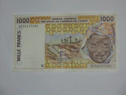 1000 Mille Francs 1993 - SENEGAL - Banque Centrale Des états De L´Afrique De L´ouest  *** EN ACHAT IMMEDIAT *** - Sénégal
