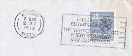 1979 Cover Slogan 'WATFORD PRECINCT ENTERTAINMENT EVERY SATURDAY'  Theatre Music Stamps Gb - Theatre