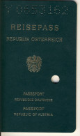 PASSPORT AUSTRIA  - Emergency Right After Loss, Issued In USA, Los Angeles, Austrian Embassy, Written By Hand - Transportation Tickets