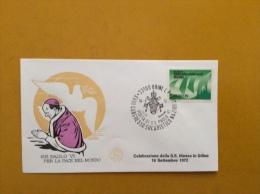 VATICANO DOCUMENTI PAPÀ PAOLO VI -  16/9/72  VISITA AL CONGRESSO EUCARISTICO  NAZIONALE DI UDINE - Covers & Documents