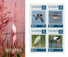 SLM14710a SOLOMON ISLANDS 2014 Water Birds MNH Mini Sheet - Salomoninseln (Salomonen 1978-...)