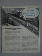 Ancien Fascicule Sur Les Chemins De Fer Nationaux Du CANADA Années 40/50 - Canada