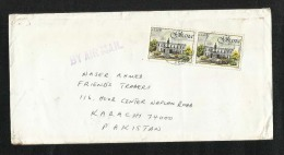 Ghana  Air Mail Postal Used Cover Ghana To Pakistan - Ghana (1957-...)