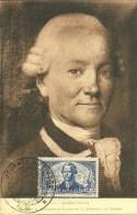 Carte Maximum LA PEROUSE, Portrait Du Navigateur Par Greuze, Musée D'Albi, J. Du Timbre Albi 1950 - Maximum Cards