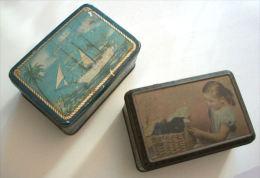 PUBLICITE - ANCIENNES BOITES SERIGRAPHIEES - LE TROIS MATS ET L'ENFANT AUX CHATS - Boxes