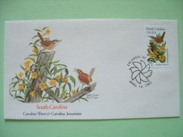 USA 1982 FDC Cover -  State Bird And Flower - South Carolina Wren And Jassamine - Etats-Unis