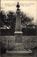 Cp Rumigny Ardennes, Monument Eleve En L'honneur Des Combattants Morts - Autres Communes