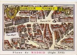MADRID ESPAÑA PLANO DE LA CIUDAD SIGLO XVII CIRCULADA TBE EDITN.HELIOTIPIA MADRID CIRCULEE GECKO - Madrid