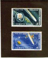 1986 - Passage De La Comete Halley Mi 4228/4229 Et Yv P.A. 299/300 MNH - 1948-.... Republiken