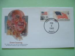 USA 1982 Commemorative Cover Proudest Americans - Ernest Gruening - Alaska - Flags - Etats-Unis