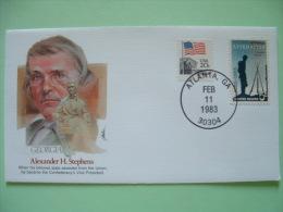 USA 1982 Commemorative Cover Proudest Americans - Alexander Stephens - Vice President - Flag - Appomatox Civil War Cent. - Etats-Unis
