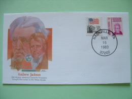 USA 1982 Commemorative Cover Proudest Americans - Andrew Jackson - President - Flag - Etats-Unis