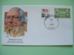 USA 1982 Commemorative Cover Proudest Americans - Nathanael Greene - Patriot - Rhode Island - Flag - Washington - Etats-Unis