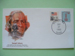 USA 1982 Commemorative Cover Proudest Americans - Samuel Adams - Revolution - Boston Tea Party - Flag - Church - Etats-Unis