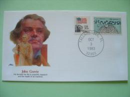 USA 1982 Commemorative Cover Proudest Americans - John Gorrie - Medecine - Flag - Sciences - Earth Globe - Etats-Unis