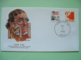 USA 1982 Commemorative Cover Proudest Americans - Lewis Cass - Governor Michigan - Flag - Liberty Bell - United States