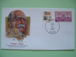 USA 1982 Commemorative Cover Proudest Americans - George Shoup - Idaho - Flag - Etats-Unis