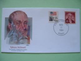 USA 1982 Commemorative Cover Proudest Americans - Ephraim McDowell - Surgery Medecine - Flag - Etats-Unis