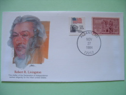USA 1982 Commemorative Cover Proudest Americans - Robert Livingston - New York - Independence - Flag - Louisiana Purc... - Lettres & Documents