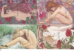 6 CPM - NUES ET BELLES D'autrefois (Suzanne,Stéphanie, Maria-Pia) Jeunes, Belles Et Nues Ingeborg + 2 Autres - Erotik Bis 1960 (nur Erwachsene)
