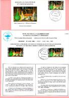 Création 1ere Officine De Pharmacie De Nouvelle-Calédonie 1986. Enveloppe 1er Jour Et Circulaire Philatélique - Nieuw-Caledonië