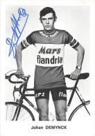 """¤¤  -  Cyclisme  -  Coureur Cycliste """"  Johan DEMUYNCK """" Né En Belgique En 1948   -  Dédicace    -  ¤¤ - Cycling"""
