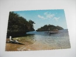STORIA POSTALE ANNULLO ROSSO FILIPPINE HUNDRED ISLANDS PANGASINAN  PILIPINAS BARCA PESCATORI - Filippine