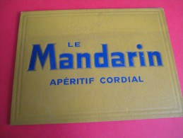Calendrier Publicitaire/Sous-Main Calendrier/Le Mandarin /Apéritif Cordial/1937-1938        CAL213 - Non Classés