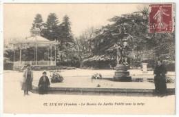 85 - LUÇON - Le Bassin Du Jardin Public Sous La Neige - JN 67 - Kiosque - Lucon
